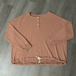 American Eagle Henley Pullover